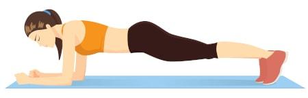 Dorsoo buikspieroefeningen plank