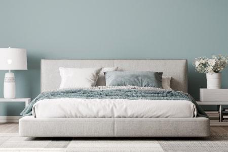 Dorsoo blog rustgevende slaapkamer tips kleur muur blauw