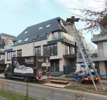 Dorsoo levering met ladderlift